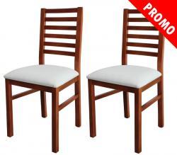 Pareja de sillas de haya, silla de madera, silla acolchada, sillas clásicas, silla de comedor
