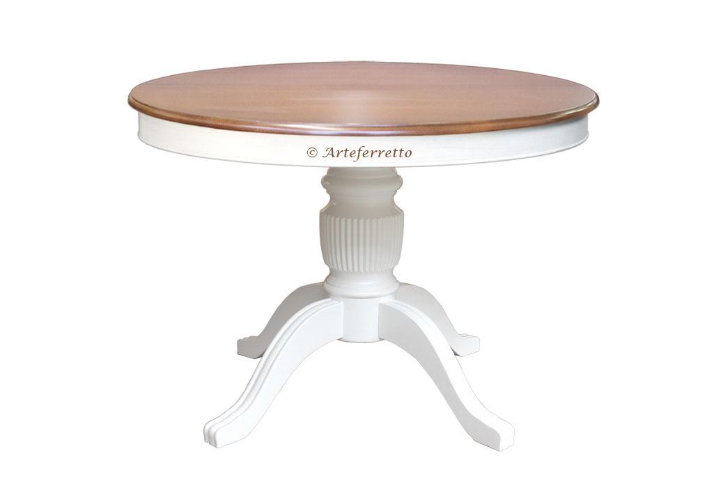 Mesa redonda bicolor, mesa extensible 100-140 cm, colección \