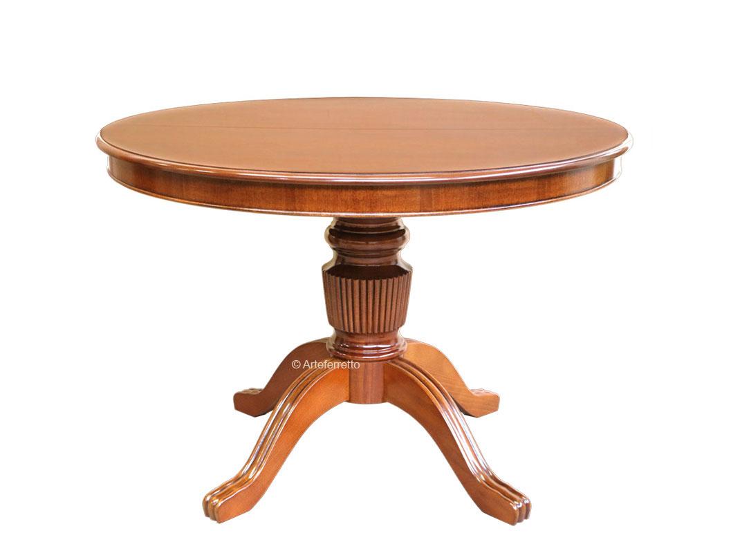 Mesa redonda de madera, extensible 110-150 cm, colección \