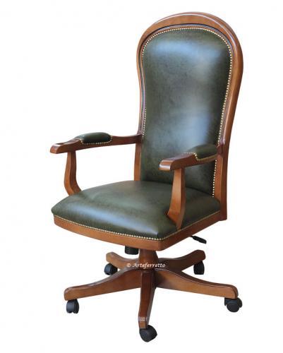 sillón giratorio de oficina, sillón de cuero, mueble de oficina, mueble de despacho, silla de despacio