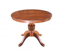 mesa redonda extensible, mesa redonda de madera, mesa extensible, mesa de 100 cm, mesa estilo clásico, mesa de comedor, mesa artesanal, mesa de diseño italiano