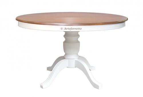 f805c96e Mesa extensible bicolor, 120-160 cm, colección Stub, mesa de madera