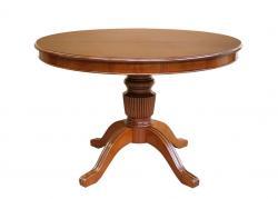 mesa extensible de comedor, mesa estilo clásico, mesa de madera, mesa redonda, mesa clásica, mesa colección Stub