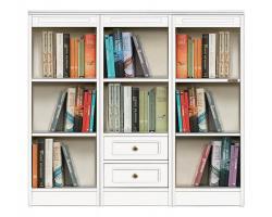 estantería baja, estantería 2 cajones, estantería de madera, mueble de madera, librería baja, librería estilo clásico, Arteferretto