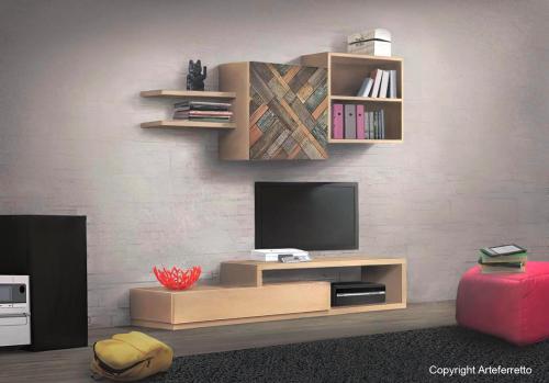 mueble pared de salón, pared de salón, mueble moderno, mueble de cuarto de estar, colección MixIT, muebles de madera, diseño italiano, mueble de diseño italiano, mueble de salón estilo moderno