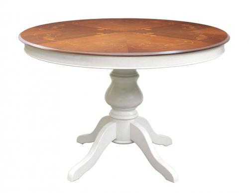 mesa extensible de comedor, mesa bicolor con marqueterías, mesa de estilo clásico, mesa clásica, mesa extensible, mesa bicolor
