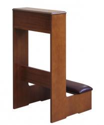 reclinatorio de madera, reclinatorio artesanal, reclinatorio Arteferretto, reclinatorio con eco-cuero, reclinatorio comodo