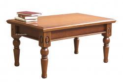 mesa de centro rectangular, mesa de centro de madera, mesa de centro artesanal