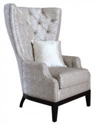 Sillón acolchado con respaldo alto, sillón, sillón de salón,