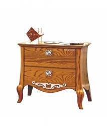 mesita de noche, mesita de noche con 2 cajones, mesita de noche de madera, mueble de madera, mesita de estilo,