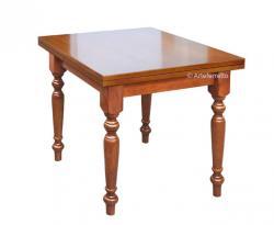 mesa cuadrada extensible, mesa de comedor, mesa cuadrada, mesa de estilo clásico, mesa de cocina,