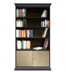 librería bicolor, librería de madera, estanteria, librería de salón, estantes regulables, librería Arteferretto, muebles Arteferretto