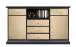 mueble bicolor de salón, mueble de salón, mueble de tv, mueble de madera, mueble artesanal, mueble Arteferretto