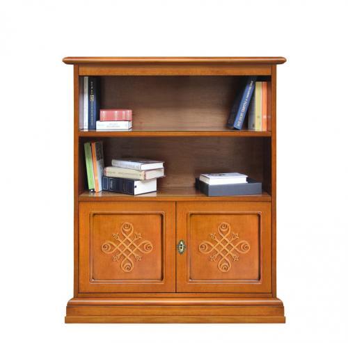 librería baja, librería de madera, estantería, librería estilo clásico, librería diseño italiano, librería de Arteferretto, librería de oficina, librería de salón