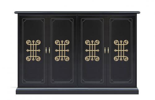 mueble zapatero largo, zapatero largo, zapatero de madera, zapatero Arteferretto, muebles Arteferretto, diseño italiano, mueble decorado
