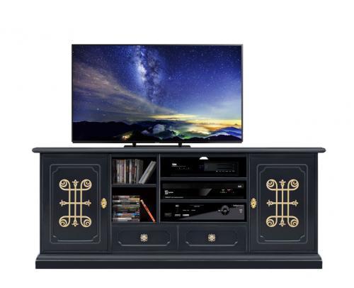 mueble de salón, mueble de tv, mueble de madera, mueble tv negro, mueble artesanal