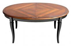 mesa bicolor, mesa de comedor negra, mesa ovalada, mesa de madera, mesa de comedor, mesa ovalada de comedor, mesa de madera maciza, mesa artesanal, mesa de comedor estilo clásico, mesa con marqueterias