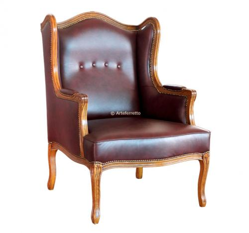 Butaca de salón, butaca de madera, butaca clásica, butaca tapizada