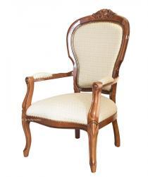 sillón acolchado, sillón de salón, sillón de madera, sillón tapizado, sillón clásico, sillón de diseño italiano
