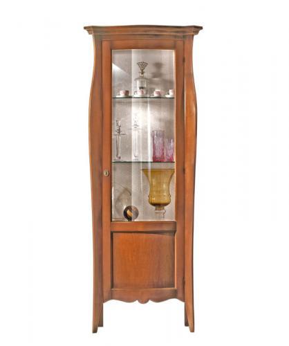 vitrina de salón, vitrina clásica, vitrina 1 puerta, mueble vitrina, vitrina de madera, vitrina de estilo Italiano