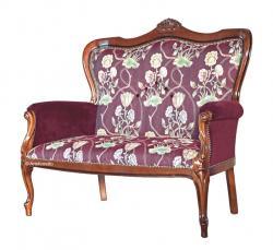 sofá clásico de salón, sofá de salón, muebles clásico, sofá acolchado