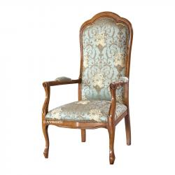 sillón clásico, sillón de salón, sillón de estilo, sillón Voltaire, sillón acolchado,