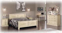 dormitorio decorado, dormitorio de madera maciza, dormitorio clásico,